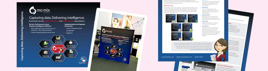 A mix of tradeshow collateral