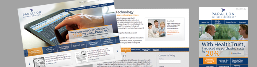 Parallon web design