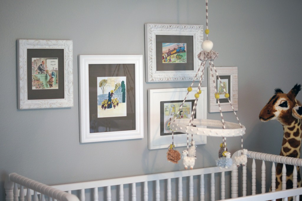 Storybook gallery wall