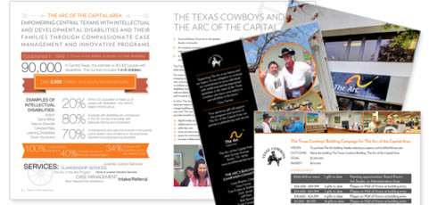 Arc of the Capital Area fundraising collateral